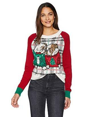 Ugly Christmas Sweater Company Women's Ugly Christmas Bulldogs in Xmas Sweaters