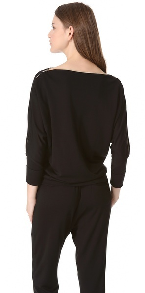 L'Agence Zip Shoulder Dolman Top