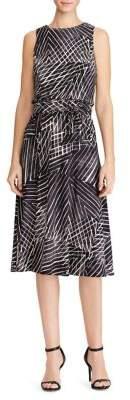 Lauren Ralph Lauren Printed Sleeveless Fit-&-Flare Dress