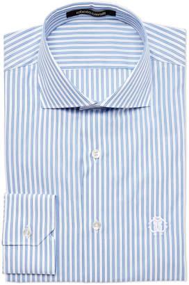 Roberto Cavalli Regular Fit Pinstripe Dress Shirt
