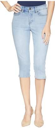 NYDJ Skinny Capris w/ Palm Tree Embroidery in Clean Cloud Nine Women's Jeans