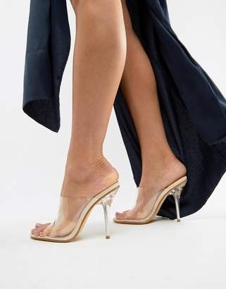 Public Desire Chicago clear heeled mule