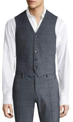 COLLECTION Single-Breasted Horn Button Vest