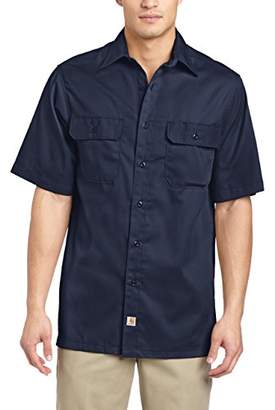 Carhartt Men's Twill Short Sleeve Work Shirt Button Front