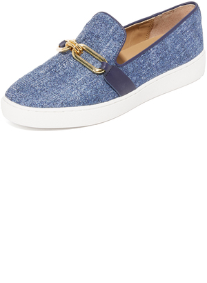 Michael Kors Collection Lennox Slip On Sneakers $295 thestylecure.com