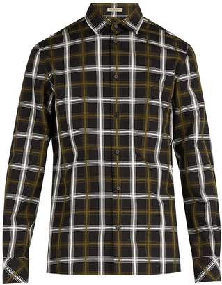 Bottega Veneta Check-jacquard cotton-blend shirt