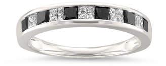 Black Diamond MODERN BRIDE Womens 1 CT. T.W. White & Color Enhanced 14K Gold Wedding Band