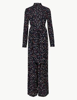 Marks and Spencer Printed Long Sleeve Jumpsuit