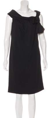 Valentino Off-The-Shoulder Virgin Wool Dress w/ Tags