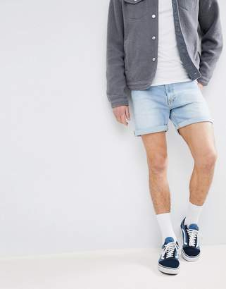Dr. Denim Trench Shaded Light Blue Ripped Shorts