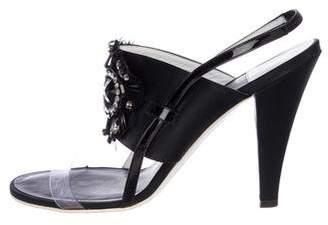 Chanel Embellished Slingback Sandals
