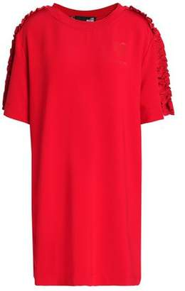 Love Moschino Ruffle-Trimmed Stretch-Jersey Mini Dress