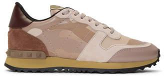 Valentino Pink Garavani Camouflage Sneakers