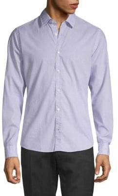 HUGO BOSS Printed Regular-Fit Button-Down Shirt