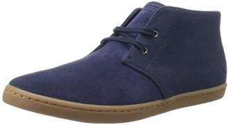 Fred Perry Men's Byron Mid Suede Woven Canvas Chukka Boot