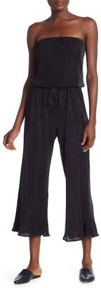 Dance and Marvel Strapless Ribbed Culotte Jumpsuit