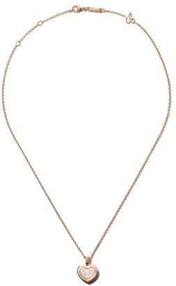 Chopard (ショパール) - Chopard ハッピーダイヤモンド アイコン ペンダントネックレス 18Kローズゴールド