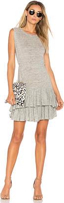 Rebecca Taylor Ruffle Mini Dress in Gray $295 thestylecure.com