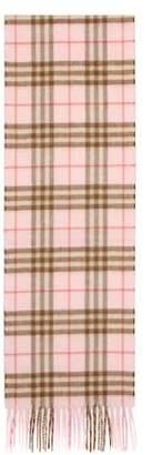Burberry Mini Classic Check cashmere scarf