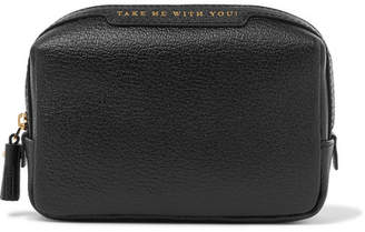 Anya Hindmarch Textured-leather Cosmetics Case - Black