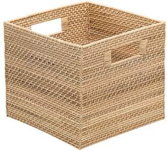 Highland Dunes Rectangle Coastal Rattan Storage Basket