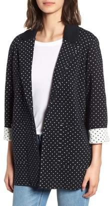 J.Crew Dot Jacquard Sweater Blazer