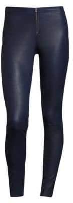 Alice + OliviaAlice + Olivia Front-Zip Leather Legging