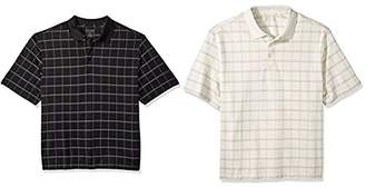 Van Heusen Men's Big and Tallprinted Windowpane Short Sleeve Polo