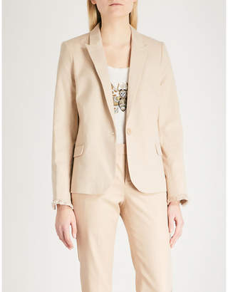 Zadig & Voltaire Padded shoulders cotton-blend blazer