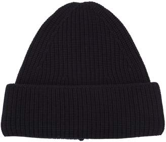 Wool Rib Knit Beanie Hat