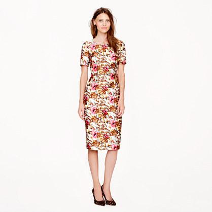 J.Crew Collection antiqued floral dress