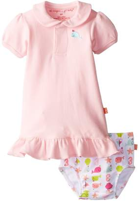 Magnificent Baby Girls Newborn Nantucket Polo Dress and Diaper Cover