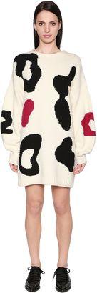 Sportmax Oversized Intarsia Wool Sweater Dress