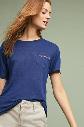 Banner Day Weekend Linen Tee $99 thestylecure.com
