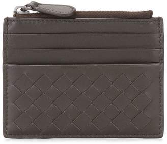 Bottega Veneta woven effect zipped wallet