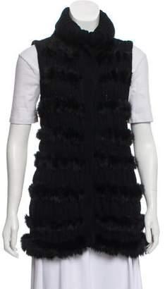 Diane von Furstenberg Alcina Fur Vest