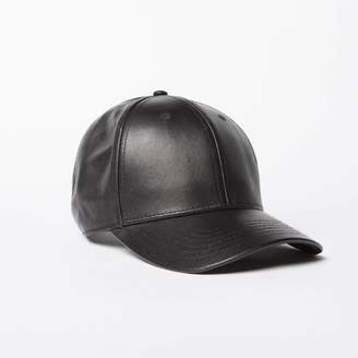 DSTLD Leather Hat in Black