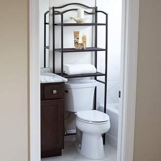 Household Essentials Over-the-Toilet 3-Shelf Rack, Espresso