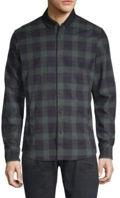 Scotch & Soda Long-Sleeve Plaid Button-Down Shirt