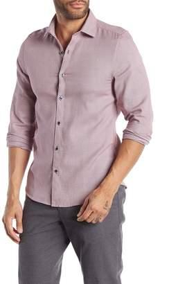 Paisley & Gray Long Sleeve Print Slim Fit Woven Shirt