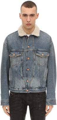 Diesel Cotton Denim Jacket W/ Faux Fur