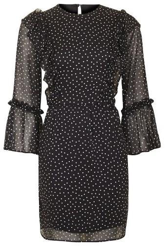 Women's Topshop Spot Ruffle Flute Dress 4