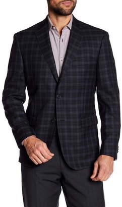 JB Britches Classic Fit Windowpane Wool Sportcoat