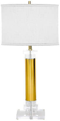 One Kings Lane Vintage Lucite & Brass Table Lamp - Janney's Collection
