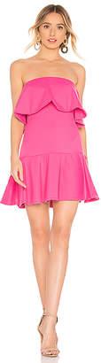 Susana Monaco Ruffle Drop Waist Dress