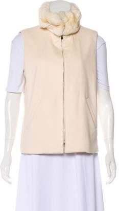 Loro Piana Fur-Trimmed Cashmere Vest