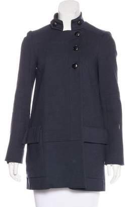 Diane von Furstenberg Long Sleeve Button-Up Jacket