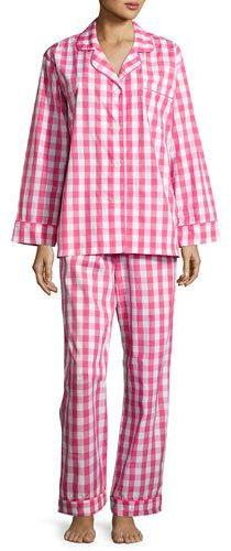 BedHeadBedhead Gingham Classic Pajama Set, Hot Pink