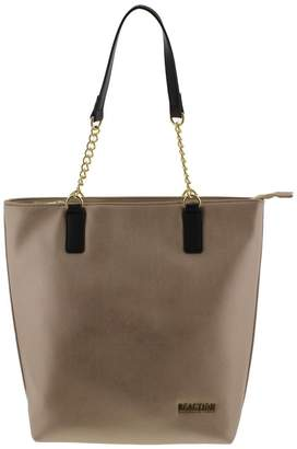 At Canada Kenneth Cole Reaction Womens Jessica Faux Leather Tote Handbag Gold Large