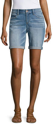 Arizona Womens Low Rise 9 Bermuda Short-Juniors
